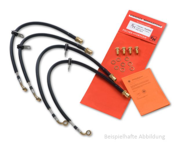 Fischer Stahlflex-Bremsleitung Hinten für Kawasaki KX 125 KA186-H.7